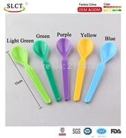 Wholesales PP plastic 5 colors mix spoon