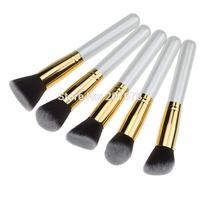 5 pcs Synthetic Kabuki Beauty White Makeup Brushes Set Cosmetics Foundation Blending Blush Makeup Tool Free Shipping
