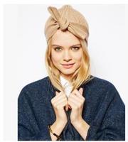 Europe Rib retro decorative knotting new winter warm knitted hat women cap free shipping