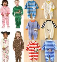 Free shipping Baby romper Carters romper Newborn baby bodysuit fleece romper roupas infantil meninas baby Christmas romper KR029