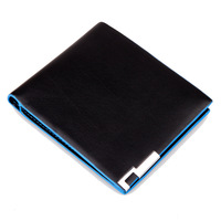 2014 new men's brief paragraph purse fashionable leather wallet