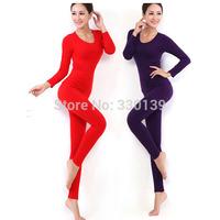 Thermal Underwear Women 2014 Hot Sale Winter Antibiosis Warm Long Johns Underwears Top + Pant Sexy Slim Comfortable
