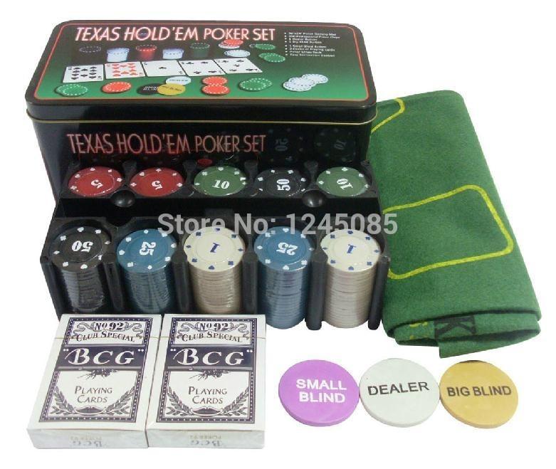 [해외]2014 new hot  Holdem 21:00 Set 200 chips and tablecloth..