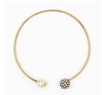 Pearl Gemstone Pendant Necklace Female