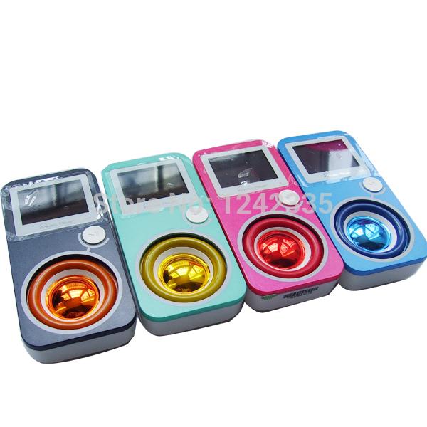 Singapore post free! Kingtown L3 MP3 player with 8G storage radio recording speed display lyrics super small MP3 players speaker(China (Mainland))