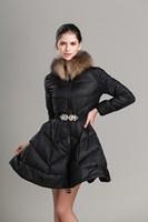 2014 New Arrival Women Raccoon Faux Fur Collar Winter Coat & Parkas Famale Thicken Warm Cotton Coat Jacket Plus Size