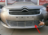 Free Shipping High quality stainless steel Front Grille Around Trim Racing Grills Trim For 2013 Citroen C4 L/C4