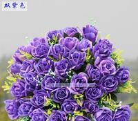 36 head wedding bouquet flower wedding arch road lead high simulation flower silk flower wholesale roses