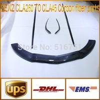 benz CLA-class w117 CLA 260 change into CLA45 carbon fiber front lip spoiler  all parts