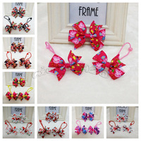 Hot ! Free shipping 15 pcs (5set ) Frozen Hair bows + Bobbles Sets for Baby Girl Hair accessories 16 types available