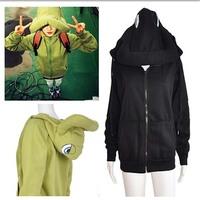 2014  Hot sale korean style  casual outwear  unique design cute hooded women hippo  coat M-XXL