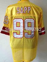 Tampa bay 99 warren Sapp football jersey warren sapp jersey warren sapp throwback jersey Retired Player Vintage Jersey