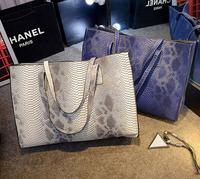 Serpentine Snake pattern fashion handbags shoulder bag fashion simple laptop bag large bags women handbag