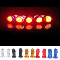 1 Pair Bicycle Bike LED Turn Signal Light Aluminum Alloy Cycling Safety Handlebar Lamp Flashlight Black/Blue/Silver/Red/Gold