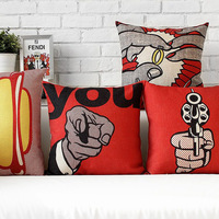 Classic red and black  sofa cushion cover 4pcs/set square and oblong