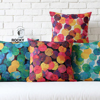 Dot modern home sofa mat fluid pillow  cushion cover colorfull bubble pattern  4pcs/set 43cm