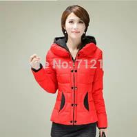 Winter women slim design short wadded jacket small cotton-padded jacket outerwear down cotton-padded jacket trend snow wear 4XL