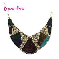 Bohemia Style Turkish Jewelry Graceful Colorful Enamel Geometric Collar Necklace For Women