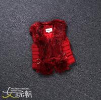 2014 winter new fashion  winter Lamb Fur stitching down Cotton Vest Jacket fashionista thickening casual vest