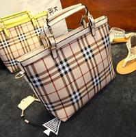 2014 new British style women bag small handbag women handbags grid plaid bags women messenger bags tote women shopping handbags