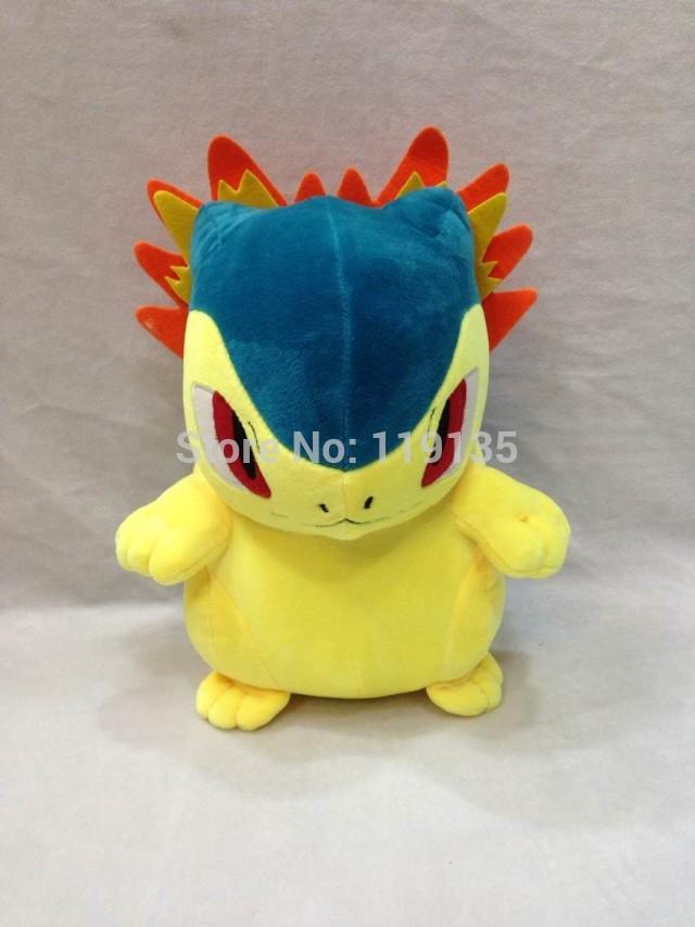 "New sale 12"" 30cm Pokemon Typhlosion Plush Toys Cute Soft Stuffed Animal Toy Figure brinquedos Children Christmas Gift(China (Mainland))"
