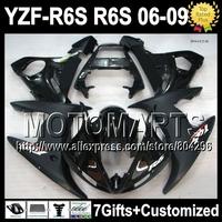 7 Free giftsFor YAMAHA ALL Black YZF-R6S 06 09  07 08 2007 2008 Flat Matte YZF R6S JK248 YZFR6S YZF-600 06-09 2006 2009  Fairing
