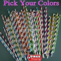 10000pcs Pick Your Colors Wholesale Party Paper Straws Biodegradeable Decorative Baby Bridal Shower Wedding Christmas Valentine
