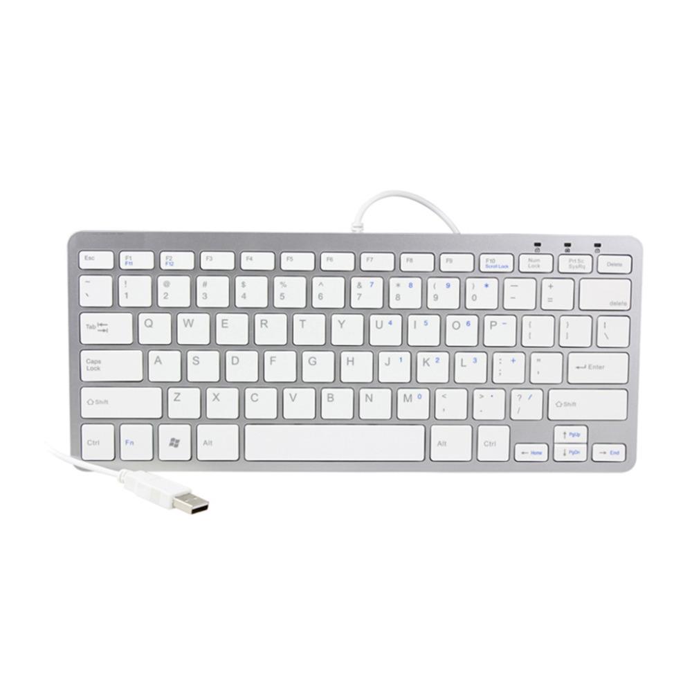 78 Key USB Slim Mini Small Thin Keyboard Compact Desktop Laptop PC Win 7 White(China (Mainland))