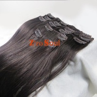 "ZS AAA+ Hot Selling : 20""-26"" Clip Straight Hair Extension 105g Darkest Brown #2,Free Shipping"