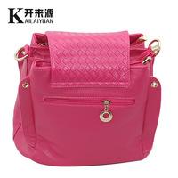 Free Shipping 5 Colors  Women Fashion Three Layers Knurling Magnetic Snap PU Messenger Bags Handbags Thin Single-Should Bag