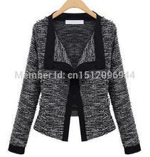 Free Shipping Spring Autumn Female Brand  Casual Dress Fashion Women Sweater Short Slim Knitting  Blazer  Cardigans Coat  (China (Mainland))