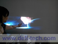 DEFI Triple  screen Interactive floor system support 3 projectors with 12 effects now