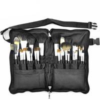 High Quality Professional 32Pcs Premium Goat Hair Makeup Brushes Zipper Folio Makeup Apron Bag Cosmetic