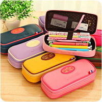 Multifunction Cute Large Capacity PU Leather Stationery School Pencil Case Cosmetic Bag Pen Case School Office Supplies