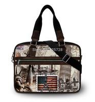 Famous Buliding Canvas laptop bag women men notebook bags shoulder handbag for 15'' 15.4 15.6 inch computer accessories