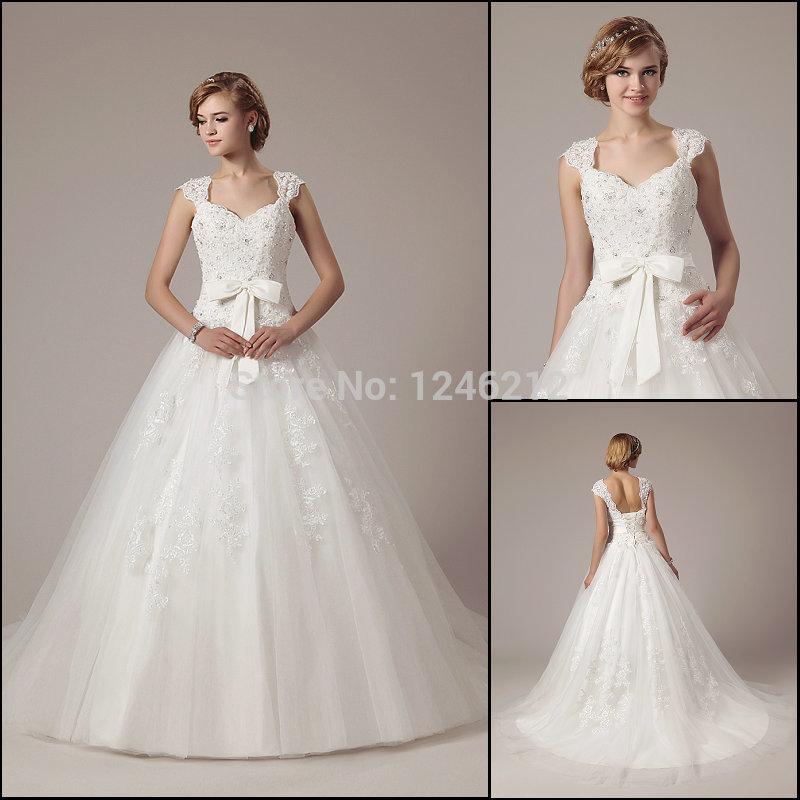 fashion design scollo quadrato pincess cinghie di paillettes ricamo tulle abito da sposa abito da sposa 2014
