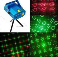 7102 Free shipping Hot Blue Mini Projector Red &Green DJ Disco Light Stage Xmas Party Laser Lighting Show, LD-BK