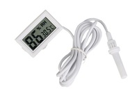 F10183 JMT 1piece Mini LCD Digital Thermometer 1.5M Probe Aquarium Temperature Measure White FreePost