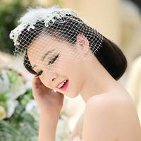 Head flower bridal headdress hair accessories wedding dress wedding dish made jewelry European and American retro fashion jewelr
