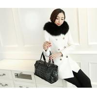 5648 # 2014 new autumn and winter coat Korean Slim woolen coat and long sections woolen coat female