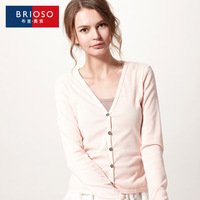 Brioso2014 spring and autumn sweater female cardigan all-match basic women's sweater outerwear 14111401