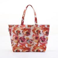 Leisure shoulder bag mummy bag shopping  bag rose A4 Journal of oil painting