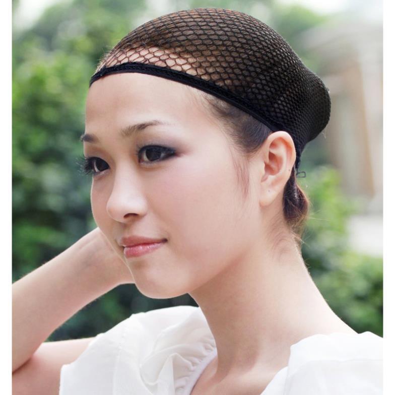 1 Pc black stretchable elastic hair nets snood wig cap cool mesh wholesale # L04176(China (Mainland))