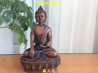 """8"""" Tibetan Buddhist red bronze nice looking shakyamuni  buddha statue 20 cm"""