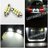 2x License plate Light 6418 Error Free 6 SMD LED W211 Mercedes E320 E350 E500 E55 Free shipping