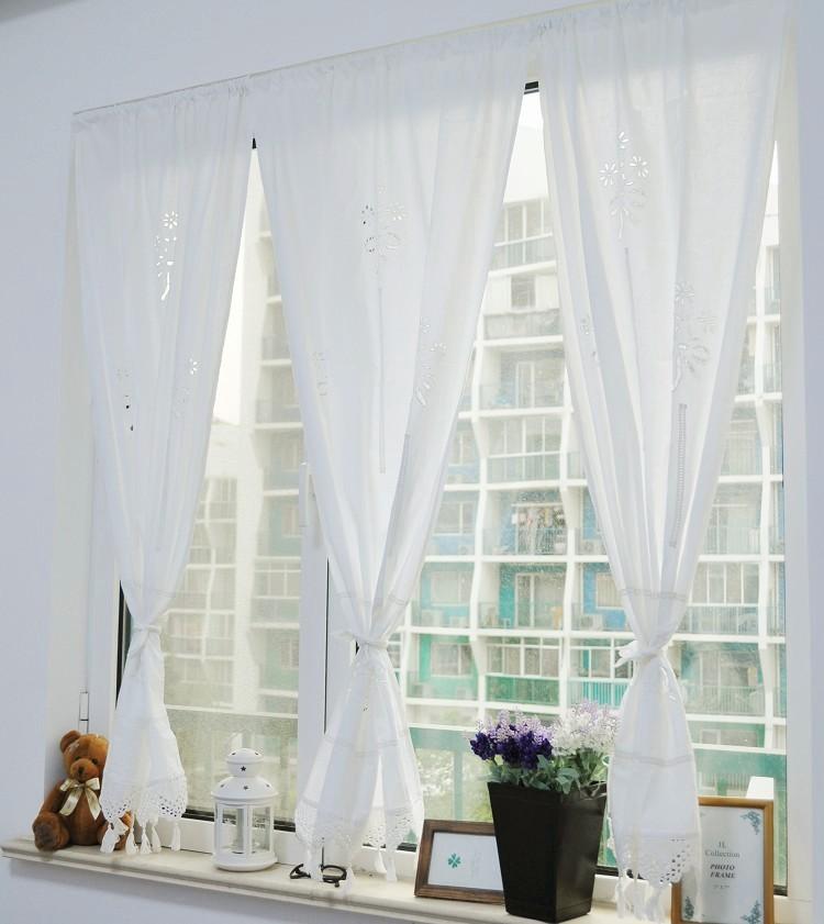 Sunflower kitchen curtains - Achetez En Gros Rideaux Blancs En Dentelle De Coton En Ligne 224 Des