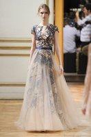 2015 Vestido Vestidos Free Shipping Tropical Star Runway Fashion Heavy Big Pendulum Gauze Dress Aristocratic Ladies Bridesmaid