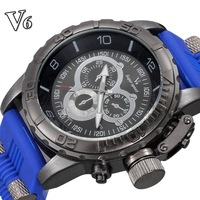 2014 V6 men watch military original big digital analog relogio masculinos sport watches dieseler shock resistance