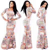 2015 New  women autumn Lady sexy elegant sleeveless trumpet party bandage casual bodycondress vestidos evening dress 2056