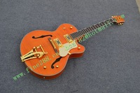free shipping new arrived electric jazz guitar in yellow with gold hardware made in China F-1885